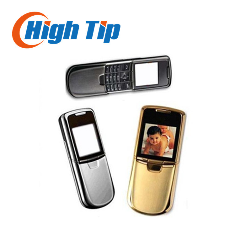 Nokia original 8800 gold cell phone English or russian keyboard with desktop charger leather case strap