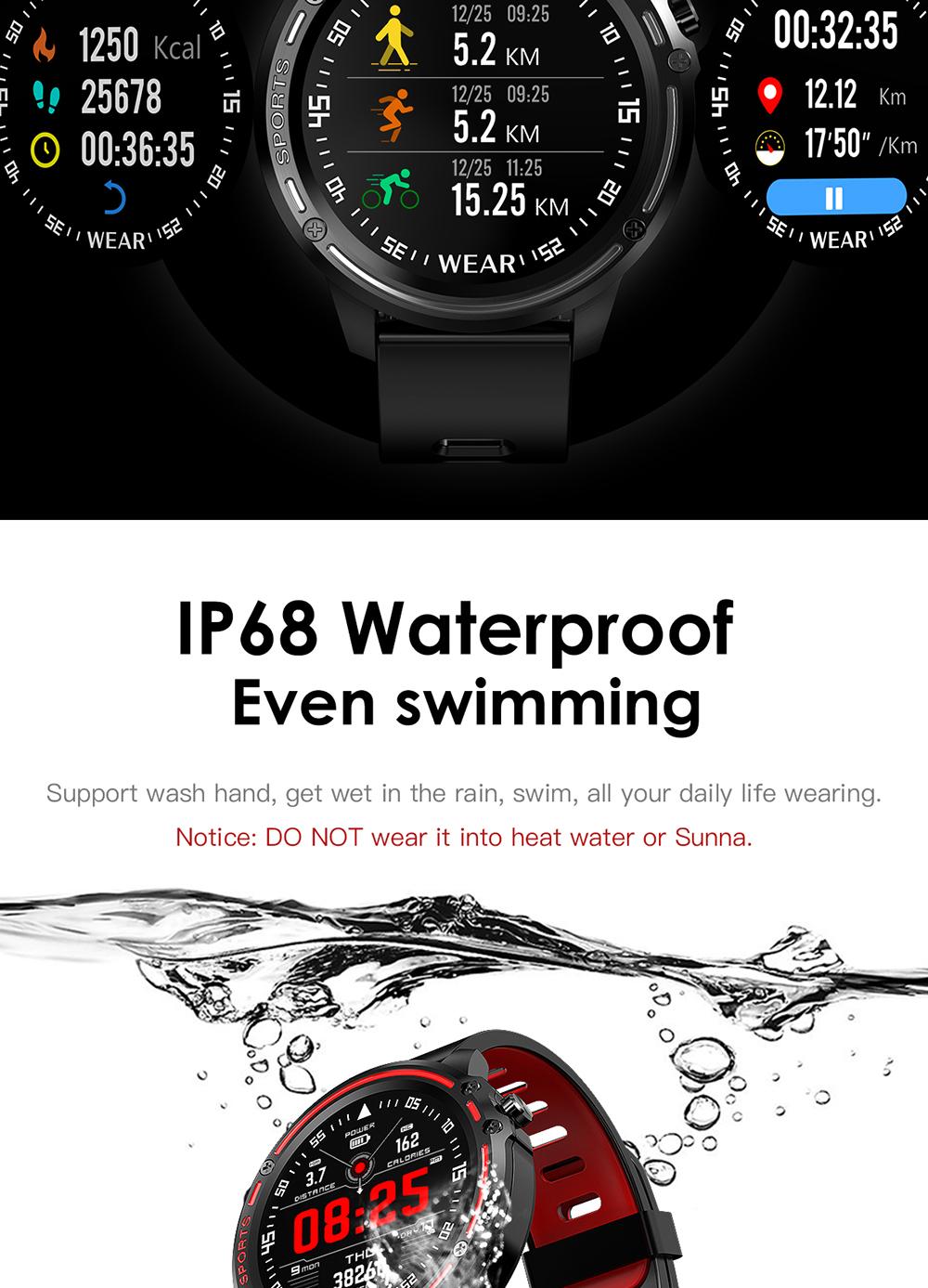 Reloj inteligente L8 IP68 para Hombre, Reloj inteligente resistente al agua con ECG presión arterial mediante PPG, relojes deportivos para fitness 6