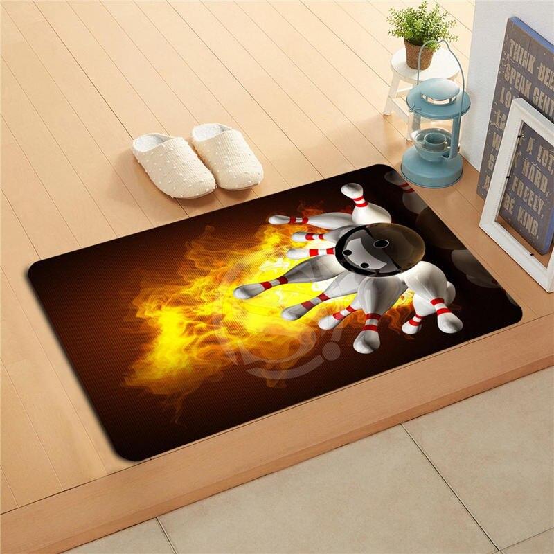 Q305a custom hd bowling doormat home decor door mat floor Q home decor sharjah