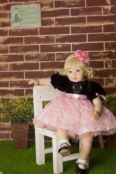 NPKCOLLECTION di Alta-end di silicone vinile reborn baby doll giocattolo appena nato principessa bambola di compleanno regalo di festa di andare a dormire compagni di gioco