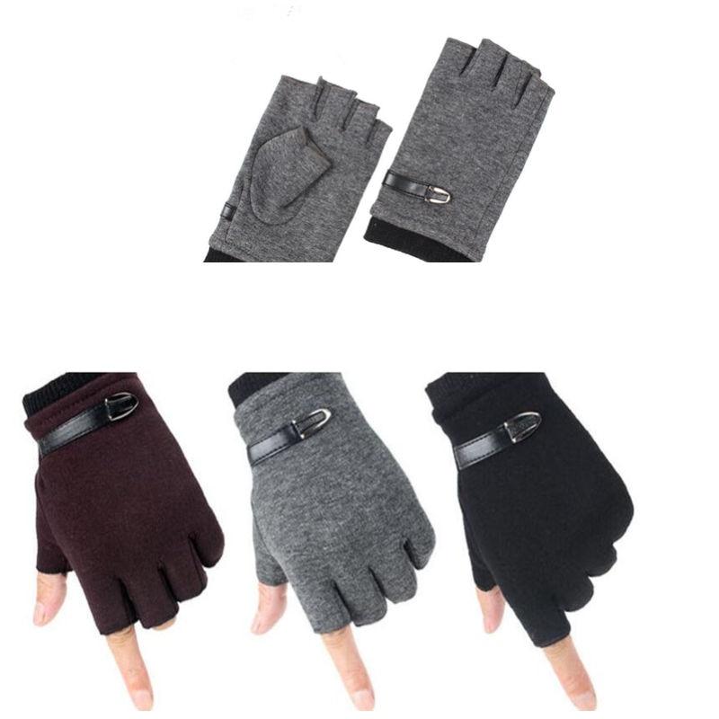 IOLPR winter gloves men velvet half finger gloves writing computer typing mitt gloves plus velvet warm running winter gloves in Men 39 s Gloves from Apparel Accessories