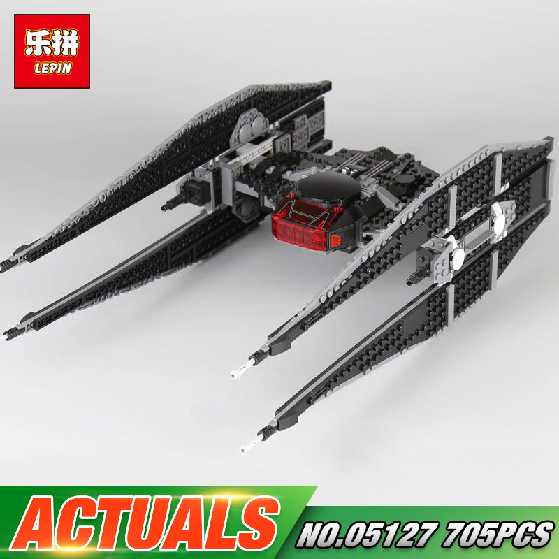 Lepin 05127 705Pcs Star Toys Wars The 75179 Tie Model Fighter Set Building Blocks Bricks New Kids Toys Christmas Birthday Gifts
