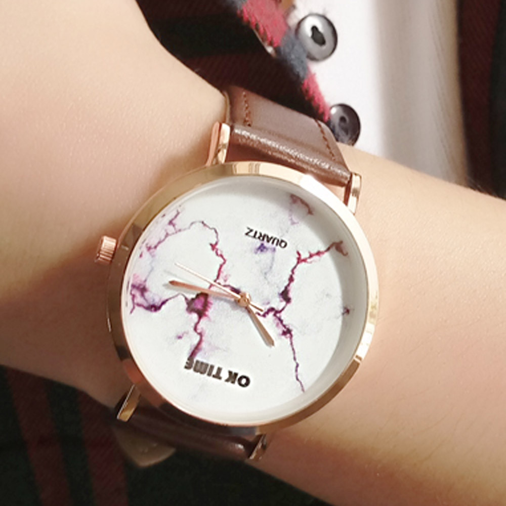 Dropship Unisex Watches 2019 Retro Design PU Leather Quartz Watch Dress Women Sports Watches For Men Discount Reloj #BL2(China)