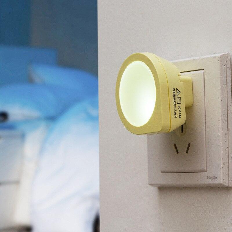 Mini Cute LED Light Control Plug Night Light Baby Sleep Creative Intelligent Induction Energy Saving Bedside Light