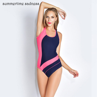 Fight Color Professional One Piece Swimsuit 2017 Backless Bodysuits Swim Maillot Women Summer Padding Sport Beach