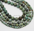 "4 6 8 10mm Natural Blue Africa Turquoise Round beads 15.5"" Pick Size Free Shipping-F00044"