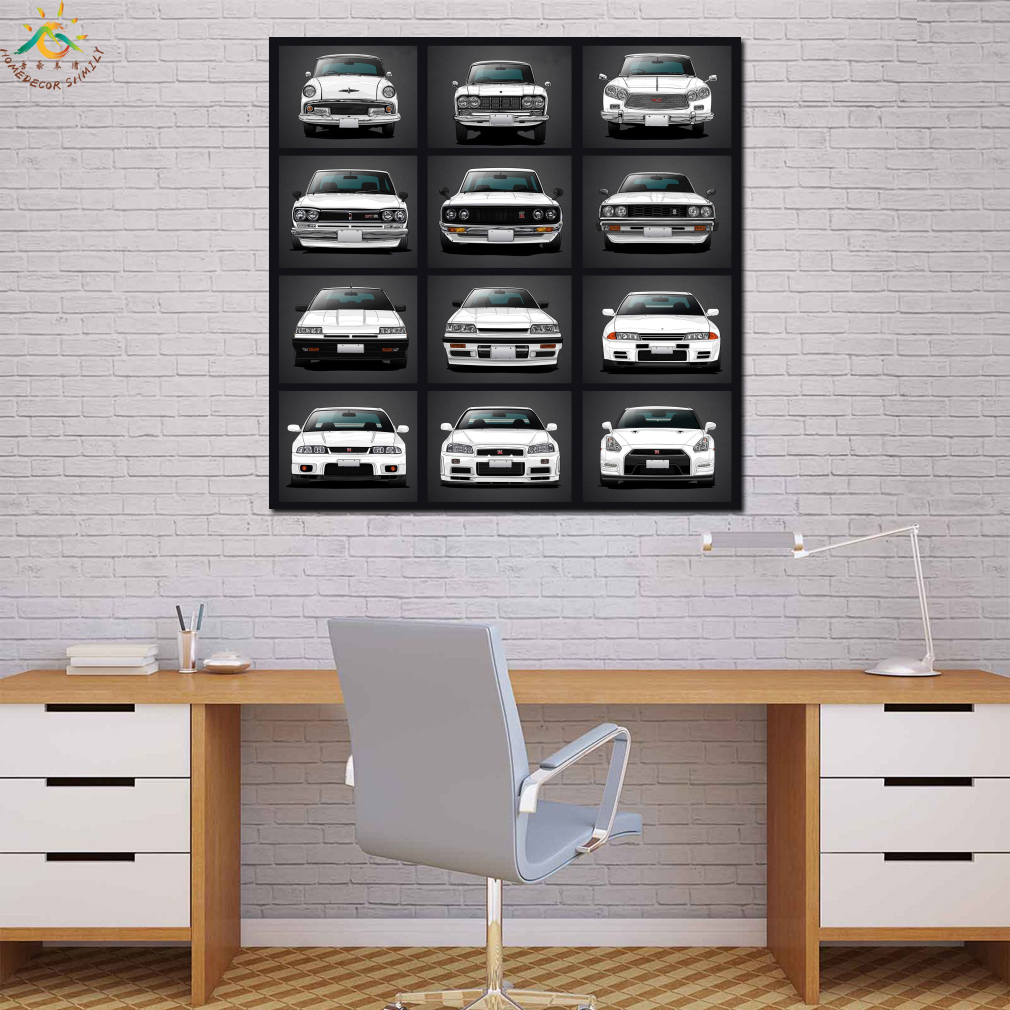 Japan Luxury Nissan Skyline Wall Art Canvas Prints Painting Frame Scroll Painting Poster Decorative Picture Art Print Poster in Painting Calligraphy from Home Garden