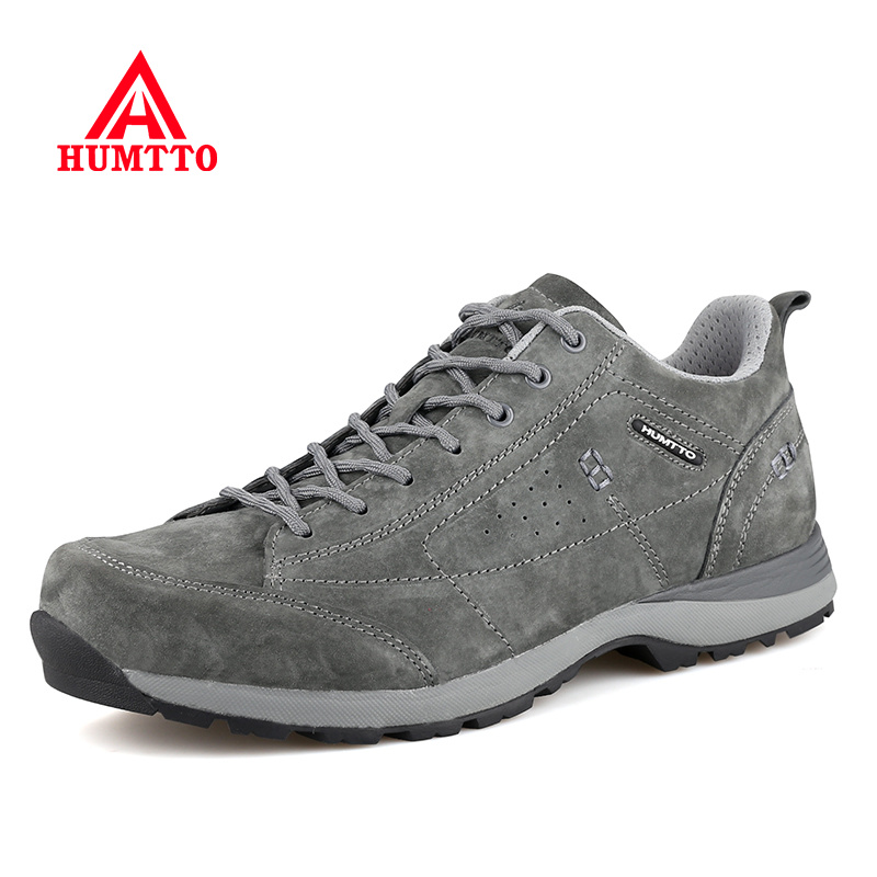 Hot Sale Brand Running Shoes for Men Breathable Genuine Leather Sneakers Lace-Up Sport Men's Walking Winter Mens Athletic Shoes