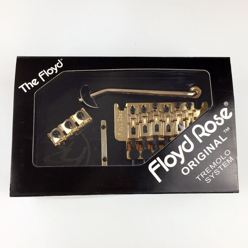 Double swing bridge O3000 Floyd Rose Original Tremolo System Bridge With R3 Nut Gold floyd rose electric guitar bridge tremolo bridge locking system gold chrome black free shipping