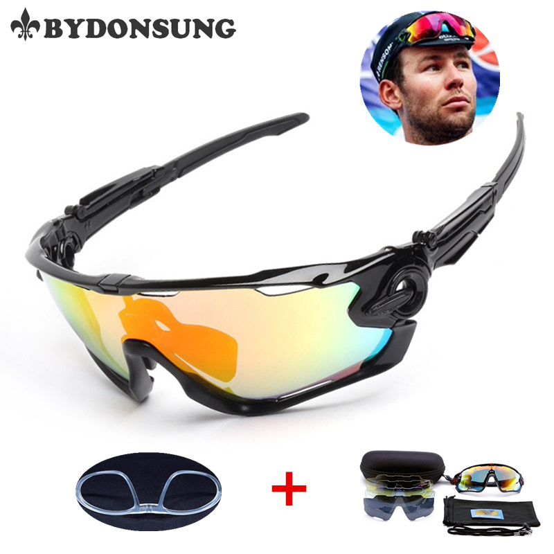 DONSUNG 5 Lens Polarized Fishing Sunglasses Jaw Cycling Glasses Men Sports UV400 Protection Breaker Eyewear Bike Bicycle Goggles prorab 2301 k