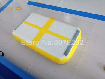 Baru Warna Kuning Inflatable Air Papan Rendah Harga Blok Dijual 1*0.6*0.2M Air Mat ukuran Mini Gym Tikar untuk Rumah Menggunakan