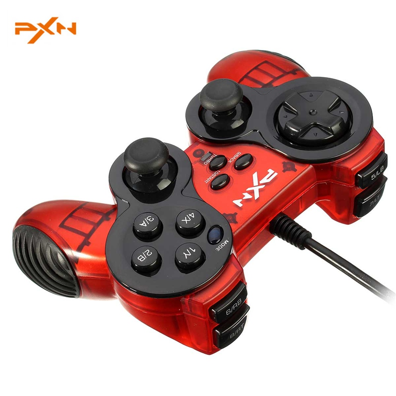 PXN 2901 Original USB Wired Gamepad Dual Vibration Joystick Turbo Function Gaming Controller for PC computer for Windows
