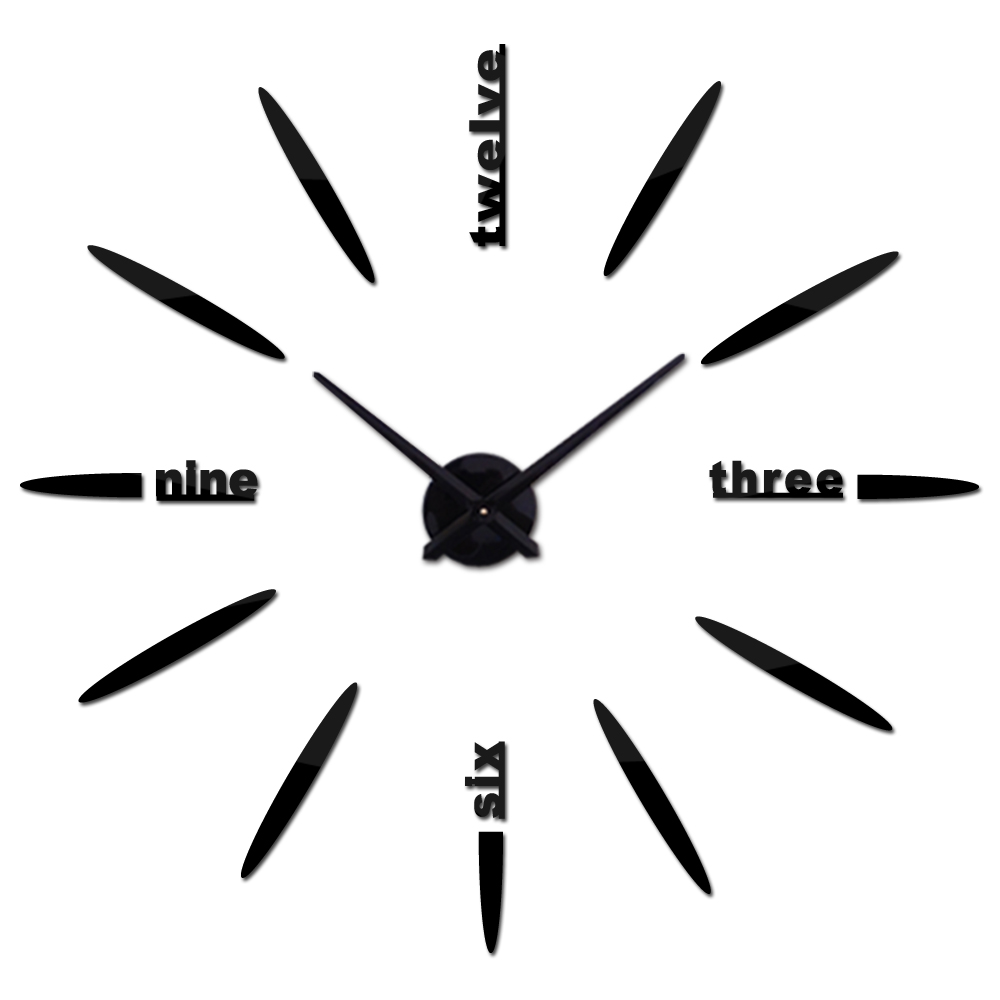 3 sizes wall clock reloj de pared quartz watch brief diy clocks living room large stickers decorative silent wall clock modern in Wall Clocks from Home Garden