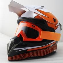 Motorrad Motocross Helm Off Rennrad Helm Moto Casco Capacete mit schutzbrillen