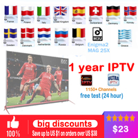 1 Year European IPTV Subscription 2500 Sweden Arabic French Belgium Italy Germany UK CA Tv Channels