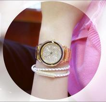 Women Austrian crystal Stainless Steel Rhinestone Wristwatches (2 colors)