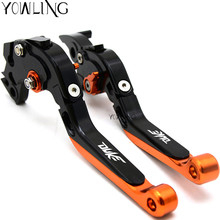 цена на Orange & Black Motorcycle CNC Brakes Clutch Levers Fit For KTM Duke 125 200 390 DUKE RC 390 690 Duke R 2014 2015 2016