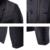 Mens Negro Cazadora de Manga Larga Botón Sólido Cremallera Real estilo Masculino prendas de Vestir Exteriores del Diseño Corto Delgado de Lana y Mezclas F63 chaqueta