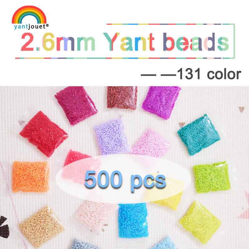 2.6mm Mini Beads YANTJOUET 500pcs 192color Beads For Kids Hama Beads Diy Puzzles High Quality Handmade Gift