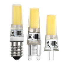 LED E14 G4 G9 Lamp Bulb AC 220 230 240 5W COB SMD LED Lighting Lights replace Halogen Spotlight Chandelier(China)