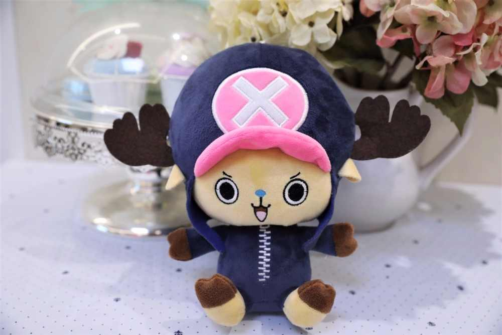 1 pçs 20cm de pelúcia chopper brinquedos uma peça luffy macio boneca recheado anime japonês figura crianças brinquedos de alta qualidade presente para crianças