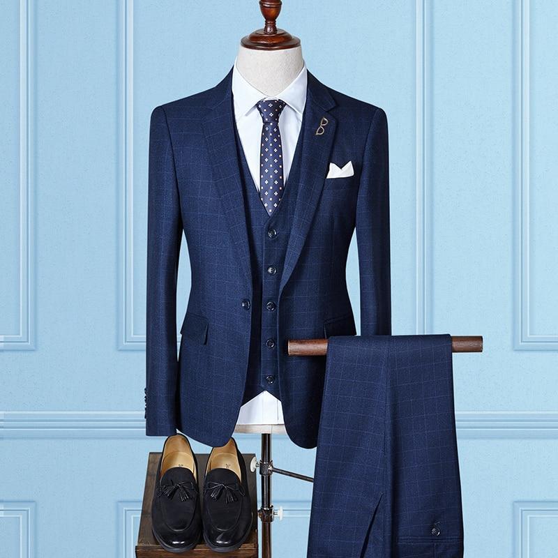 Здесь продается  MarKyi plaid men suits blazer 2017 fashion plus size 4xl mens suits wedding groom slim fit   Одежда и аксессуары