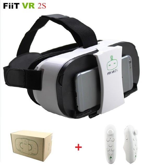 "Original New FiiT VR 2S Virtual Reality 3D Glasses VR Box 3D Google Cardboard 2 for 4.0-6.0"" Smartphone + Bluetooth Controller"