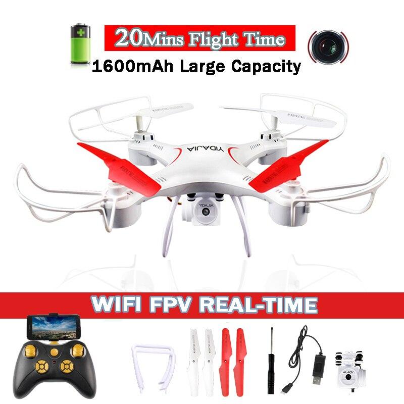 D66 20 minutes Temps de Vol WIFI FPV RC Drone avec 0.3MP Caméra 2.4g 6-Axe Hélicoptère Radio-Commandé Dron quadcopter Jouet VS X5SW