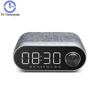 Alarm Clock Wireless Speaker Subwoofer  Electronic Wecker Home Table Wake Up Light Reveil Matin Despertador Infantil Radio