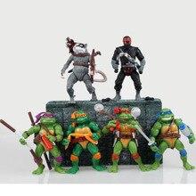 6PCS/LOT Teenage Mutant Ninja Turtles Movies Toys Action Figure TMNT Collection Dolls