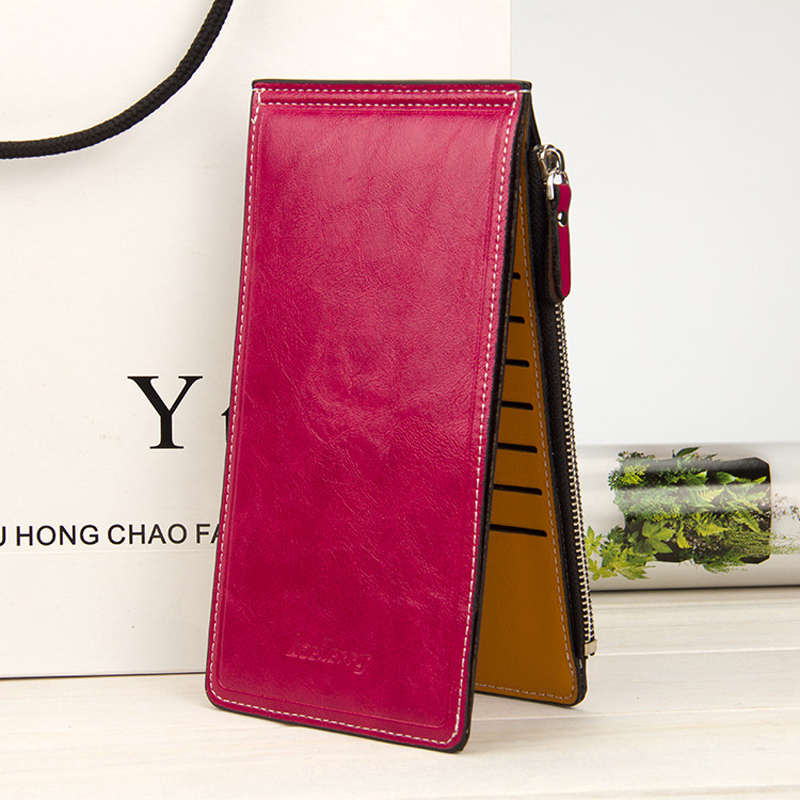 Baellerry Fashion Korean Womens Long Wallets Multi Cards Bits Position More Function Zipper Hasp Cards Package Card Holder Purse never leather badge holder business card holder neck lanyards for id cards waterproof antimagnetic card sets school supplies
