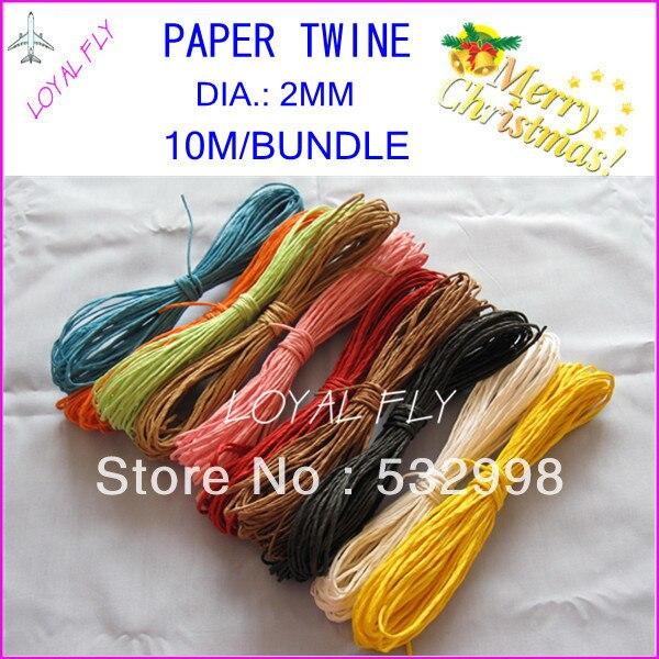 10 Farbenpapier-Bastseil (10m / Bündel) 60pcs / lot, verdrehtes - Partyartikel und Dekoration - Foto 2