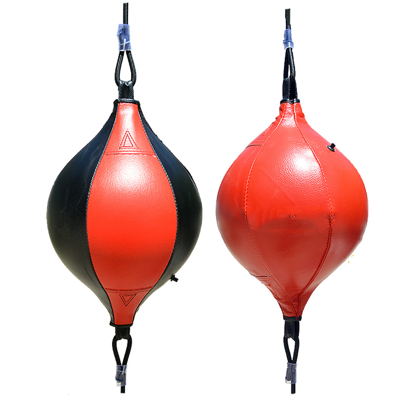 PU Punching Bag Boxing Speed Ball Inflatable Double End Boxeo Muay Thai Boxing Bags Reflex Fight Ball Sports Fitness Equipments