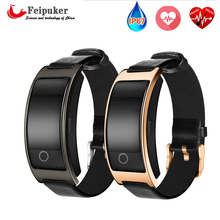 Bluetooth Elegante Reloj de Pulsera Banda de presión arterial Monitor de Ritmo Cardíaco Gimnasio Podómetro Smartwatch Para Android IOS Teléfono CK11S