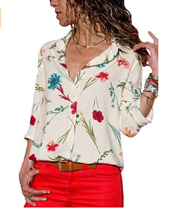 Womens Tops And Blouses Plus Size 4XL 5XL Long Sleeve Blusas Mujer De Moda 2018 Elegantes Florales Striped Print Women Blouse    3