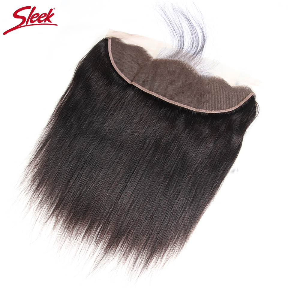 Sleek Brazilian Straight Hair 13x4 /360 Lace Frontal Closure With Baby Hair Remy Human Hair Natural Color Free Part Lace Closure