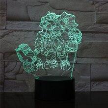 Game Overwatch Hero Reinhardt Wilhelm Figure Led Night Light for Child Gift Kids Bedroom Decoration Desk Table 3d Lamp Bedside