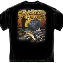 fb6022636f58a Hunter T Shirt Wicked Hunt Ducks And Dogs Black Hip Hop Novelty T Shirts  Men's Brand