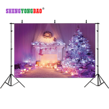 SHENGYONGBAO Vinyl Custom  Christmas theme Photography Backdrops Prop Photo Studio Background YHSHD-00912