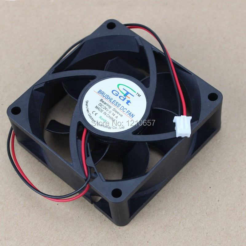 1PCS Gdstime 7025 70MM 70 x 70 x 25mm 7CM 2Pin 24V DC Case Cooling Fan gdstime 10 pcs dc 12v 14025 pc case cooling fan 140mm x 25mm 14cm 2 wire 2pin connector computer 140x140x25mm