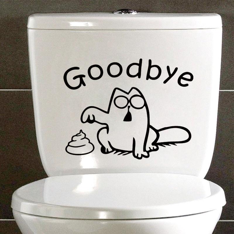 Simon 39 s cat funny sticker for Bathroom decor stickers