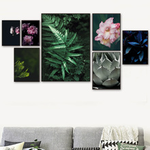 Peony Flower Monstera Fern Leaves Plant Wall Art Canvas Painting Nordic Posters And Prints Pictures For Living Room Decor