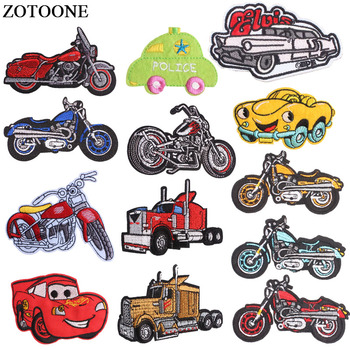 ZOTOONE Iron On Rock Motorcycle Patches For Clothes Embroidery Applique Cartoon Car Bike Patch Jeans Sticker Clothing