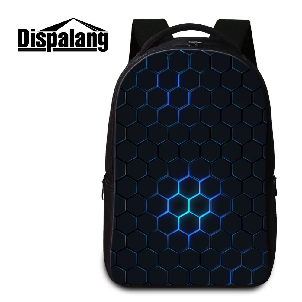 Dispalang Brand Men's Laptop Backpacks Geometry Patchwork Women Backpack Cool School Bags For Teenagers Kids Book Bag Mochila