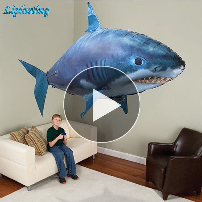 Remote Control Shark Toys Air Swimming Fish Infrared RC Flying Air Balloons Nemo Clown Fish Kids Toys Gifts Party Decoration(China)