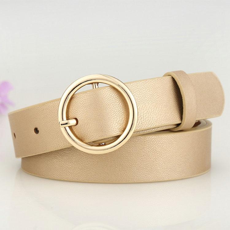 Badinka Ny Guld Runda Metall Cirkel Bälte Kvinnlig Guld Silver Svart - Kläder tillbehör - Foto 4