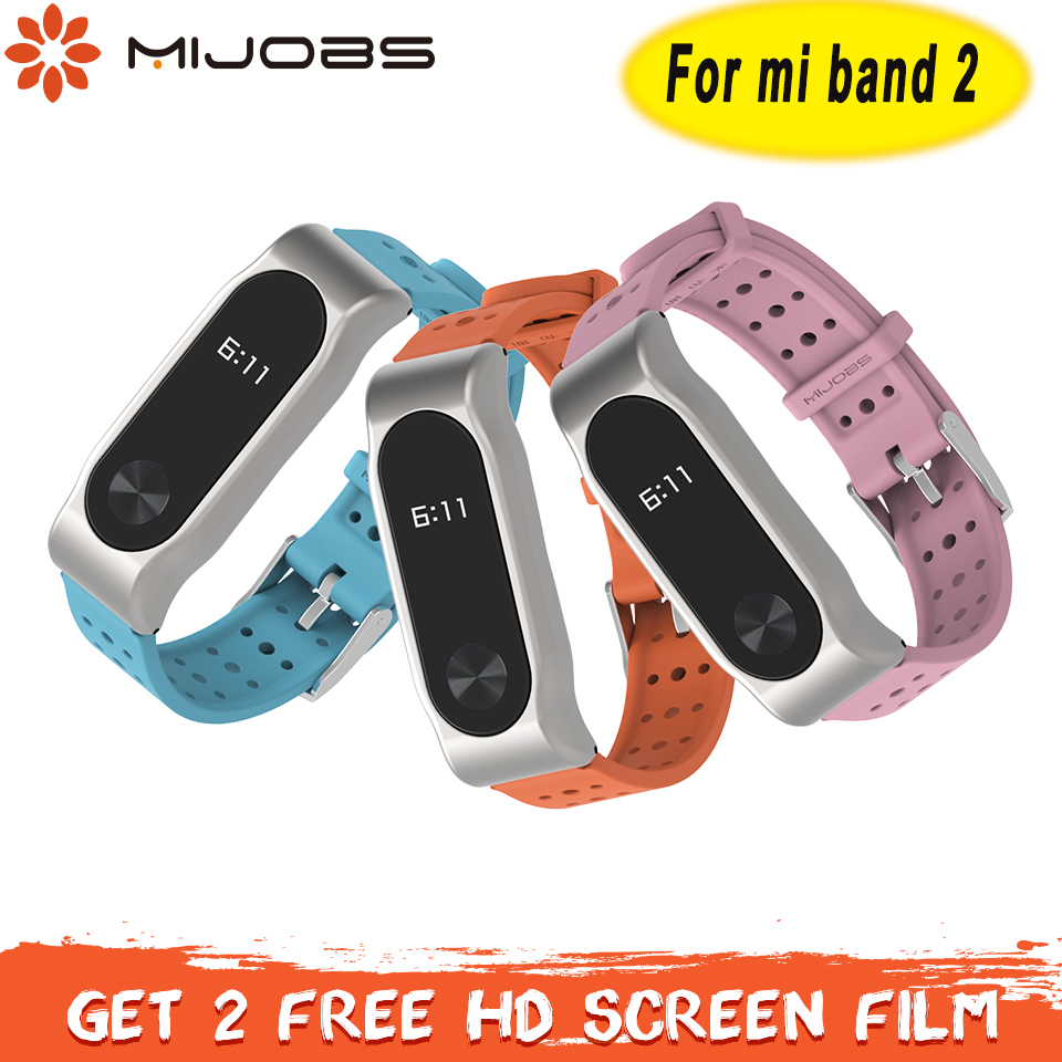 Mi Band 2 Strap Sport Silicone correa for Xiaomi Mi Band 2 Strap Smart Watchband Mi Band 2 Bracelet Band Accessories Wristband image
