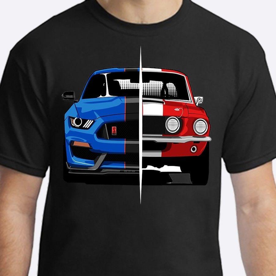 American Classic Muscle Car Negra Shelby Car T Shirt 2019