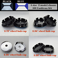 Melhor preço conjunto de 100 pc preto azul 56mm 60mm 65mm 70mm emblem centro de roda calotas, hub, bonés, VW modelos de estilo do carro adesivo