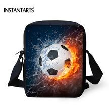 INSTANTARTS Small Children Backpacks Football Prints Schoolbags for Boys Girls Kids Kindergarten School Bags Cute Kids Baby Bags